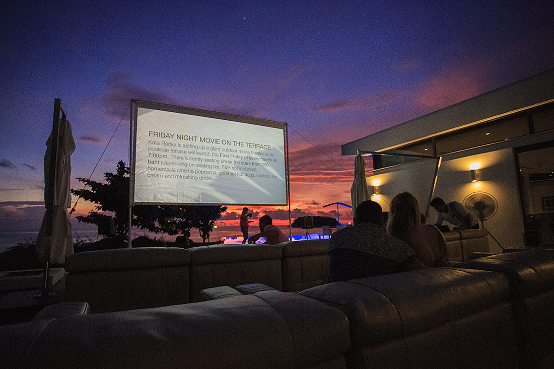 SEASIDE CINEMA: 'MOVIE ON THE TERRACE' AT KATA ROCKS