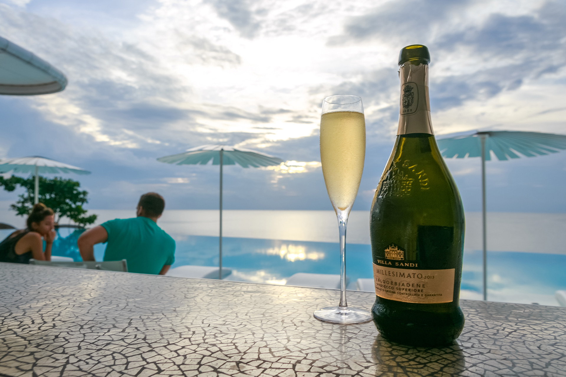 Enjoyed on the terrace next to the resort's 35-metre swimming pool with its panoramic ocean views of the Andaman Sea.