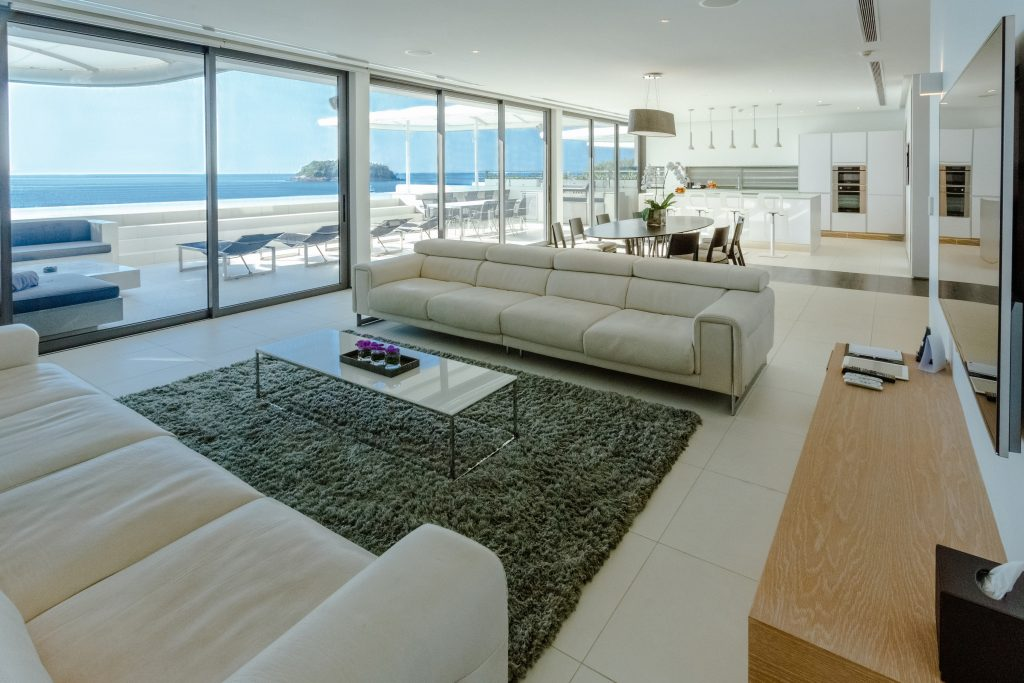 Four-bedroom Sky Pool Villa Penthouses - Living room