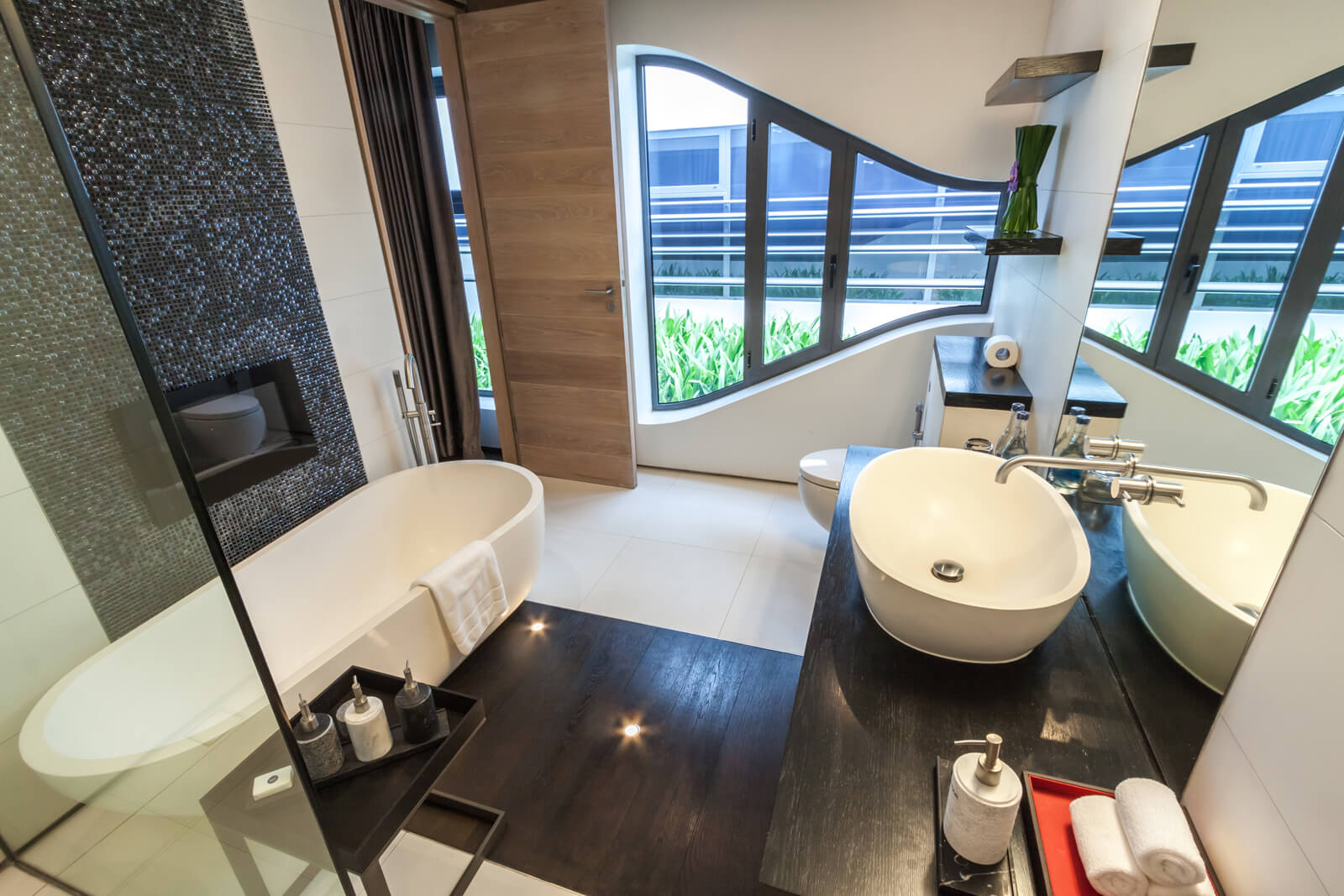 An en suite bathroom and is west facing for spectacular Phuket sunsets.
