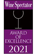 Wine Spectator - Award of Excellence 2021 - Restaurant Award