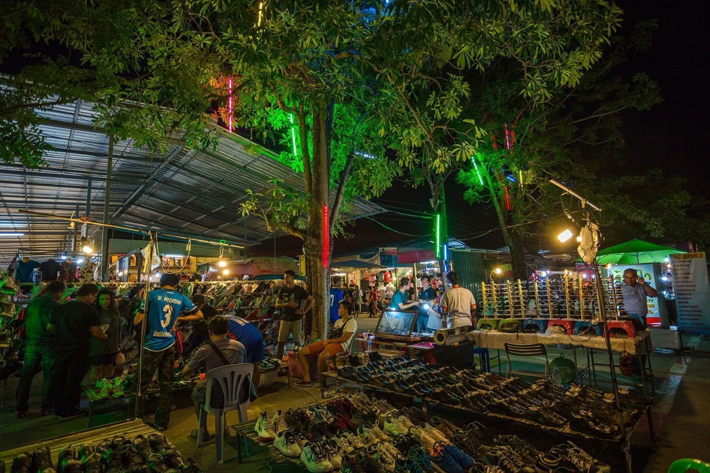 Weekend Market In Phuket , Chao Fa West road