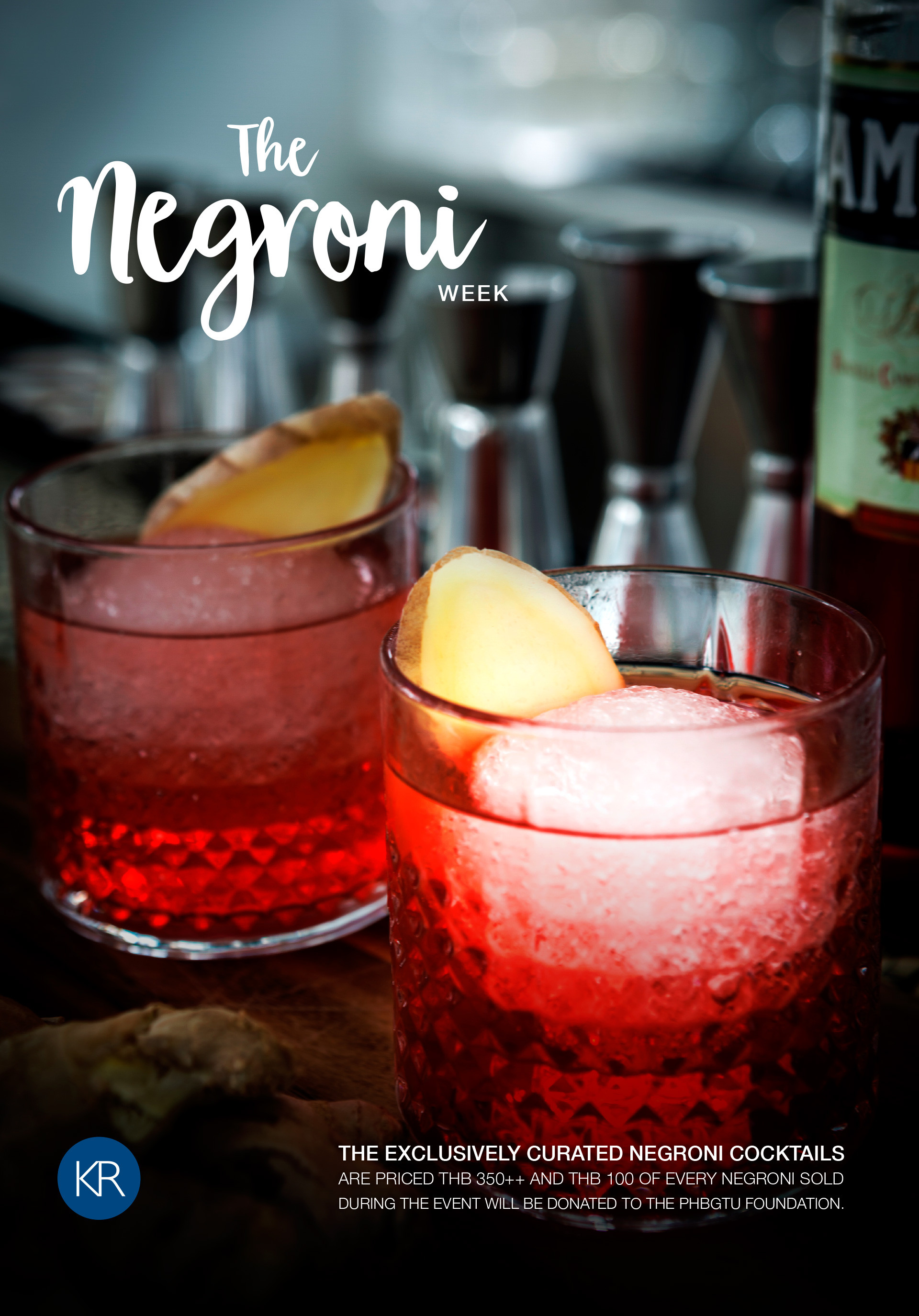 Kata Rocks Brings 'Negroni Week' to Phuket - In Honour of Charitable Cause
