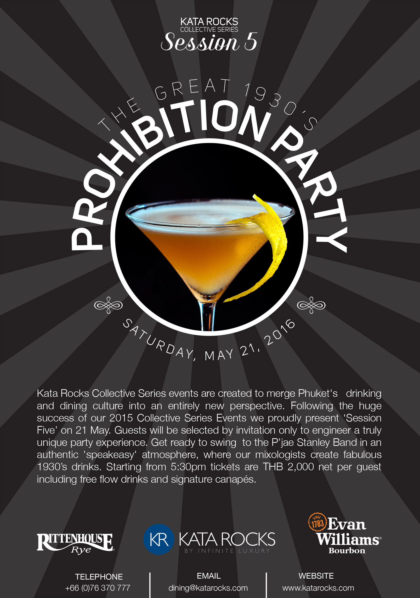 Kata Rocks Collective Series events - Prohibition Party