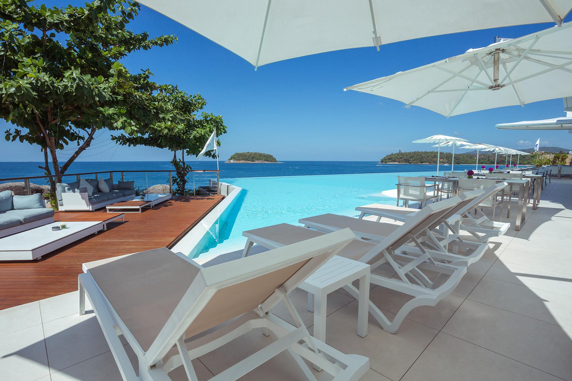 Best Infinity pool in Phuket at Kata Rocks