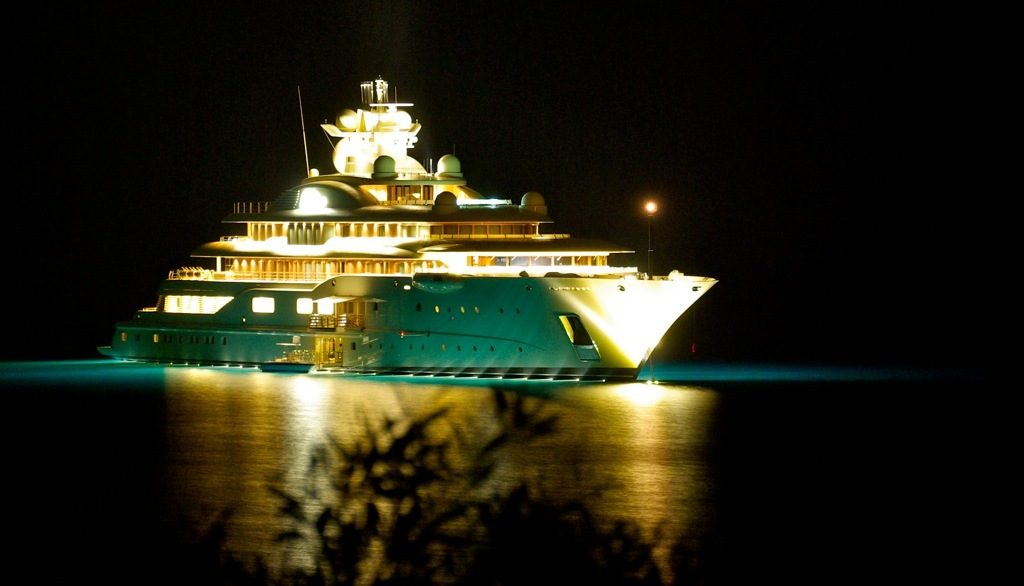 Expensive superyacht