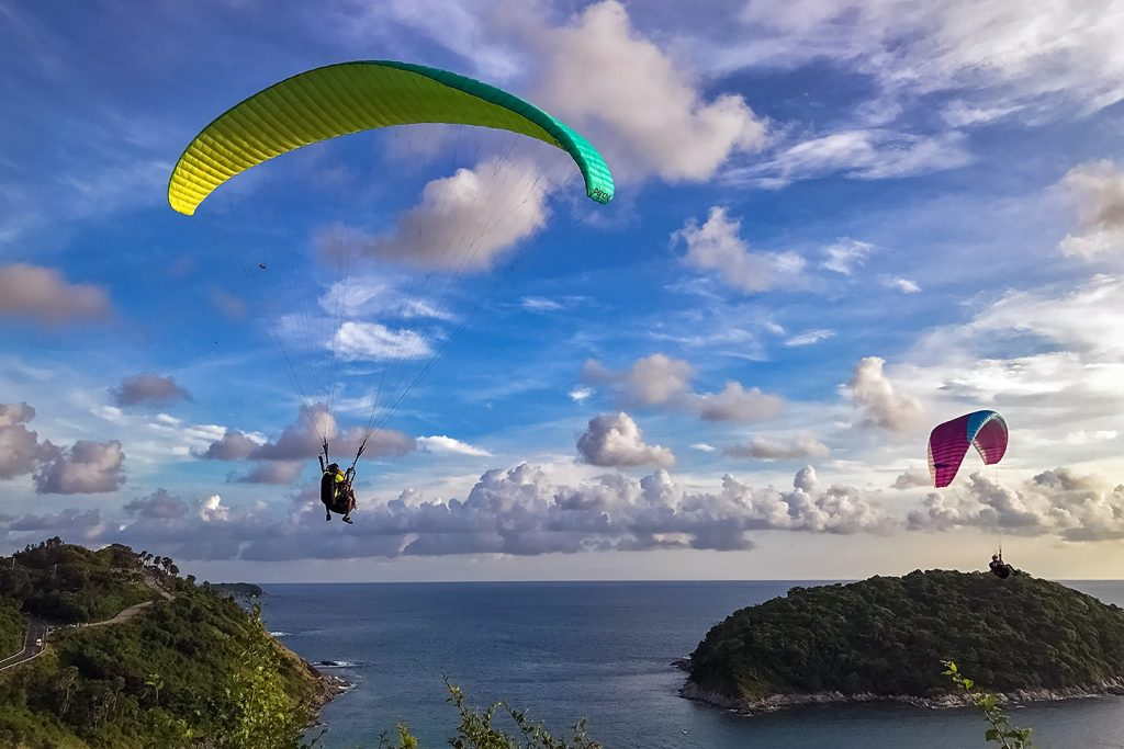 10 Amazing things to do in Phuket - Parasail over Windmill Viewpoint