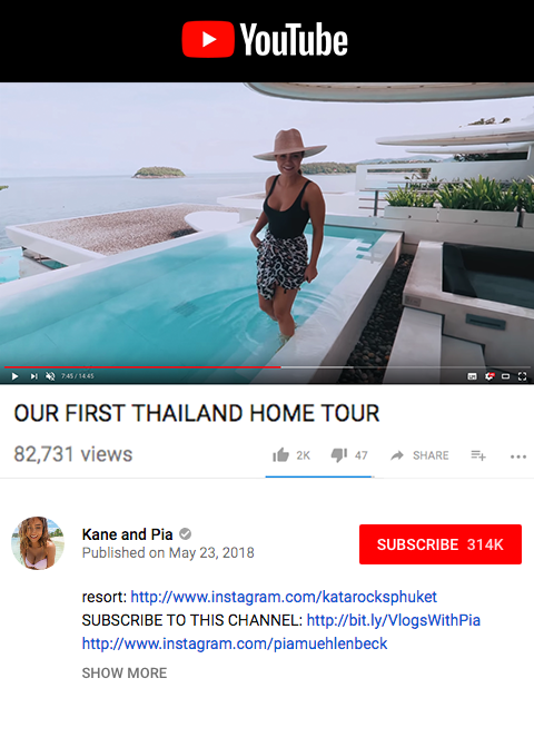 Kane and Pia - Our firsrt Thailand home tour