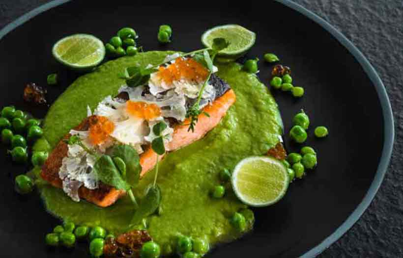 SLOW-COOKED SALMON