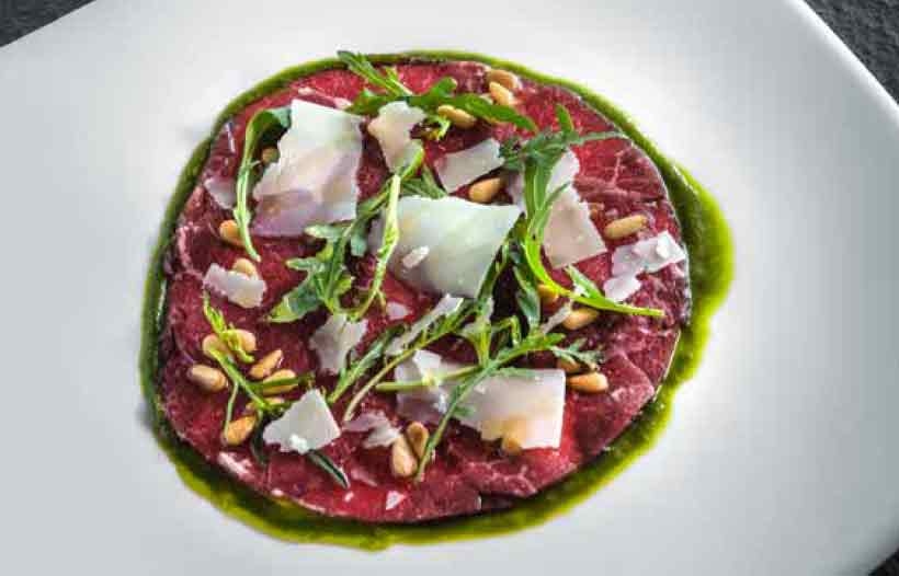 SPICED CARPACCIO OF AUSTRALIAN BEEF