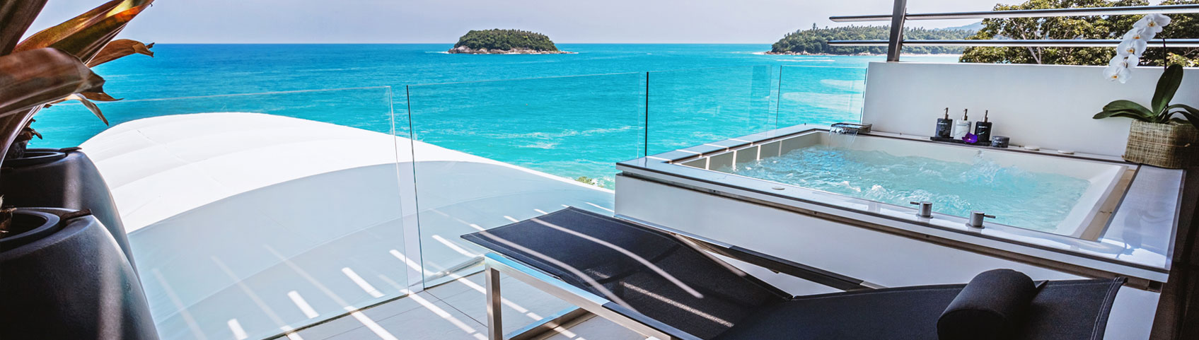 All Kata Rocks' oceanfront Sky Villas have spectacular views.