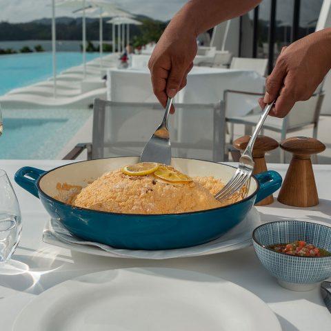 Taste showcase: Salt Crusted Branzino