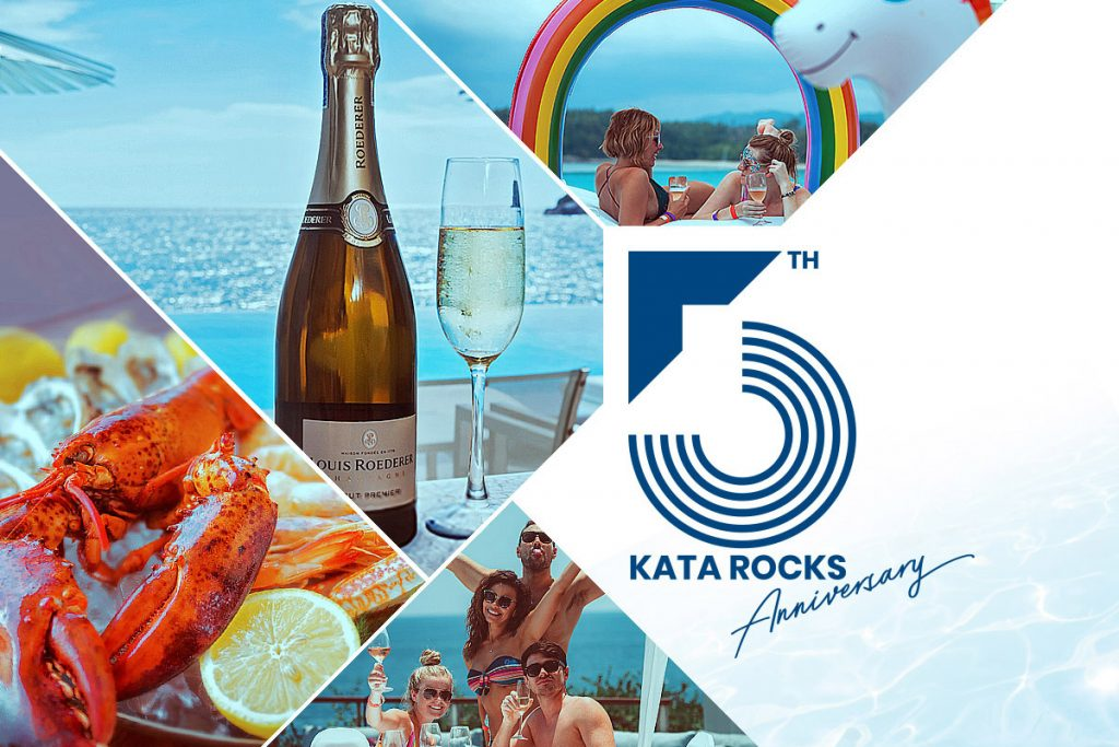 Kata Rocks' 5th anniversary with the champagne brunch pool party