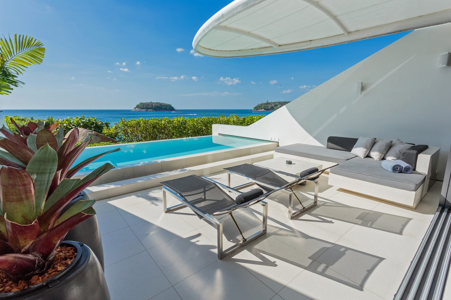 One-bedroom 'Ocean Pool Loft' Sky Villas - a romantic Phuket luxury resort with the privacy of a pool villa